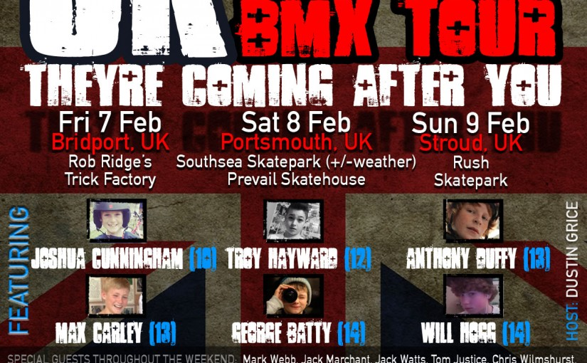 Lil Pros BMX Tour goes International! See you soon in the UK!