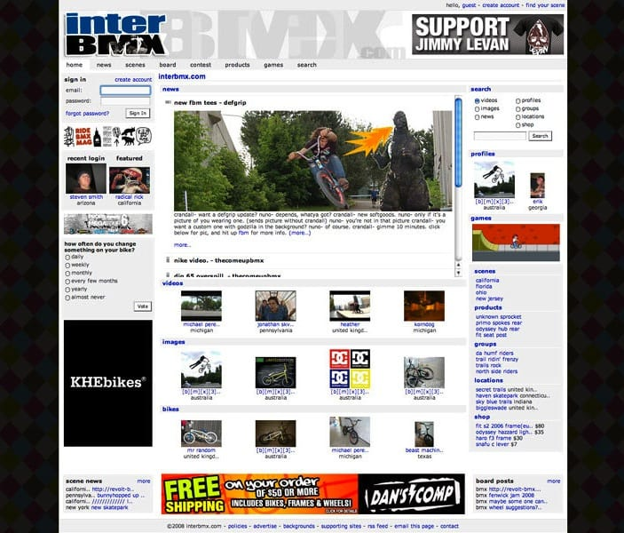 Working on Brand New InterBMX Website