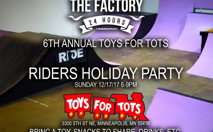 Minnesota BMX Holiday Party This SUNDAY FREE TO RIDE Just bring a TOY !! Toys-For-Tots 6th Annual 12/17 6-9pm
