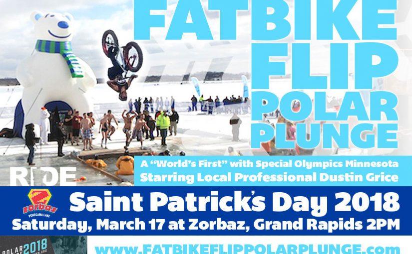 Fatbike Flip POLAR PLUNGE with Minnesota Special Olympics & Zorbaz!